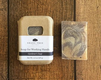 Gardener's Soap. Hand Soap Bar. Gardeners Gift. Gifts for Mother's Day. Ground Walnut Shells. Poppy Seed Soap. Exfoliating Soap. Scrubby