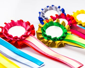 Show rossette for pets, cats, dogs and horses, party ribbon or badge