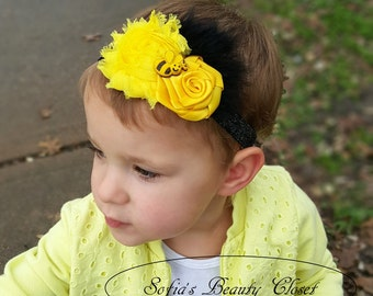 Bumble Bee headband. Yellow headband. Bumble bee birthday. Bee headband. Kids headband. Birthday headband. Baby headband. Bee baby headband