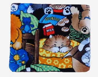 Wipes XXL cotton and sponge pattern cats, set of 10