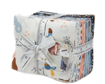 Moda Fabrics - 100% Cotton Fabric - Fat Quarter Bundle - Wild and Free Fabric Collection by Abi Hall