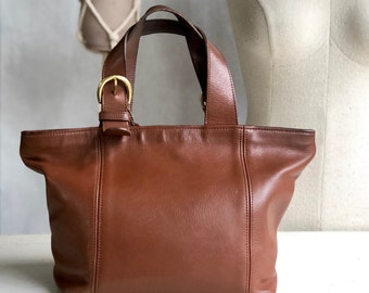 COACH 4133 Waverly Brown Leather Tote Bag