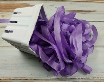 5 yards Lavender Seam Binding. Packaging, Scrapbooking, Shabby Pretty Embellishment