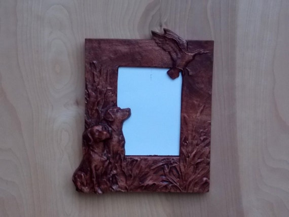 Rustic Wooden Frame, Bird Dog Hunting, Wooden Frame Birddog Hunting ...