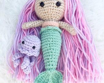 Mermaid pals, Mermaid, Mermaid doll, Toddler toy, Toddler toy, Amigurumi Mermaid, Toddler gift, Toddler toy, Girl gift