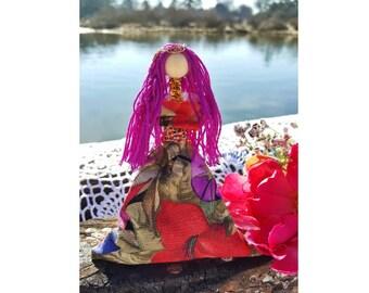 Flora, Goddess Doll, Spirit Doll, Poppet, Roman Mythology, Nature Goddess, May Flower, Spring, Renewal, Cycle of life, Wicca, Pagan, Druid