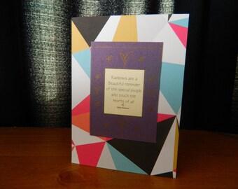 Rainbows - blank greeting card/notecard