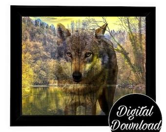 Wolf Art Digital Download