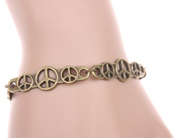 Peace and love vintage Bracelet jewelry