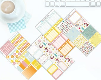 Sunshine & Rainbows - Weekly Kit Stickers for Erin Condren Vertical LifePlanner *NEW PREMIUM PAPER!*