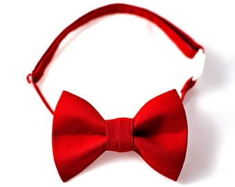 Red Bow Tie Boy, Boys Red Bow Tie, Red Bowtie for Boys, Red Baby Bow Tie, Baby Valentines Bow Tie Baby, Bowtie Boys Gift