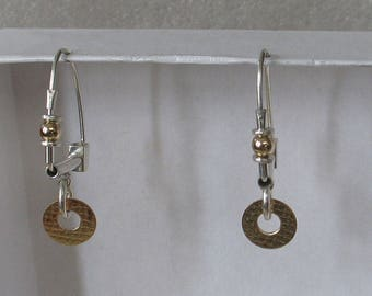 Hoop w round goldfill dangle