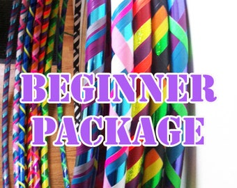 Beginner Hula Hoop and Polypro Hula Hoop Package//Buy More Save Big// Beginner//Polypro//Weighted//Exercise//Dance Hula Hoop // Customizable