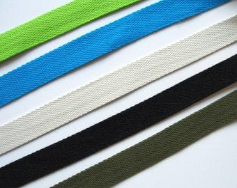 "Cotton Webbing 1"" inch, Apron Tote Bag Straps"