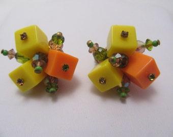 Vendome Cube Earrings