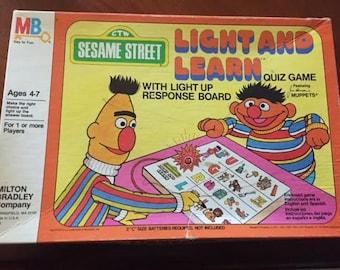 Vintage Sesame Street Light and Learn (1977)
