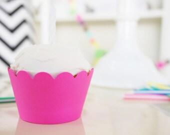 CUSTOM NEON Cupcake Wrappers - Set of 18