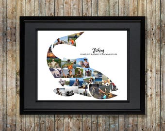 Fish Photo Collage |  Fishing Gifts for Men| Fishing | Fish SVG | Bass Fishing SVG | Fishing Gifts | Fishing Decor | Fishing Gift for Him
