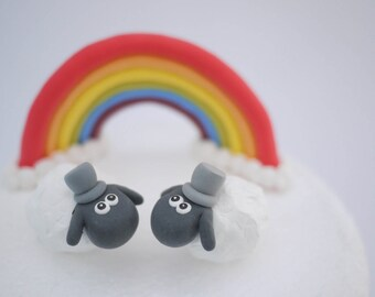 Gay Sheep Wedding Cake Topper (With or Without Rainbow)
