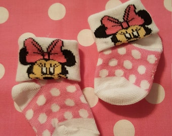 Minnie Mouse Dotted Footies