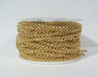 2.0mm Rolo Chain - Gold Plated - 2.0mm Links - CH48 - Choose Your Length