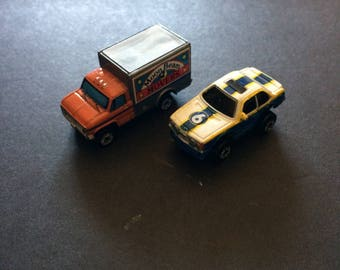 Vintage very rare Micro Machine car and van