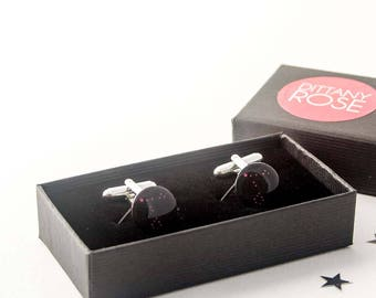 Celestial jewellery, Pisces constellation cufflinks, March birthday gift, gift for husband, zodiac cufflinks, Pisces star sign