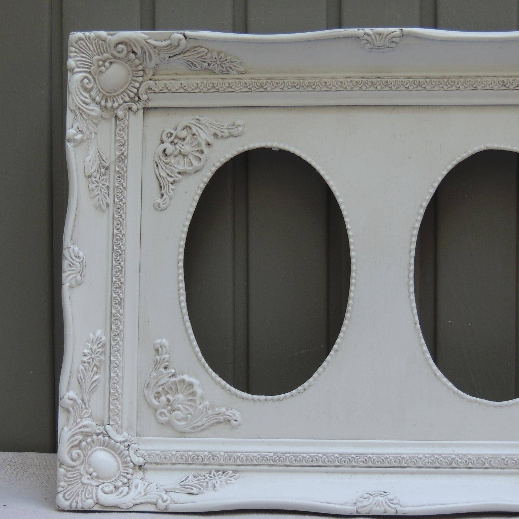 5x7 double oval white picture frame ornate floral double oval 1819 shipping jeuxipadfo Image collections