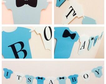Its a boy onesie baby shower banner, onesie banner, bow tie banner, bow tie baby shower, onesie baby shower banner, baby shower banner