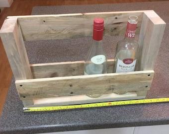 Rustic Oak Wood Pallet Wine Rack