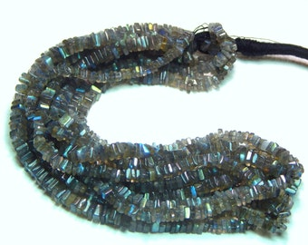 70%OFF Labradorite Blue Flash Heishi Beads Smooth Square Shape 100 Percent Natural Gemstone Size 4x3 mm Approx  - 0312