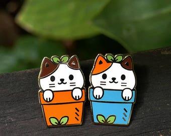 Cat Plant Pair