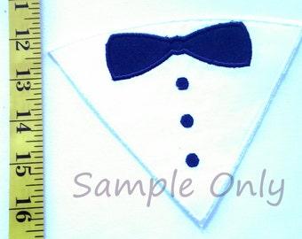Machine Embroidered Iron On Applique -Tuxedo, DIY, iron on, patch, sew on