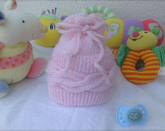 Cabled baby gift newborn baby bonnet