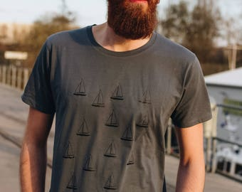 T-Shirt Boats Fair Trade & Organic Cotton _ graphit