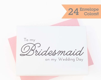 To My Bridesmaid on My Wedding Day Card, Thank You Wedding Cards (WC110-PL)