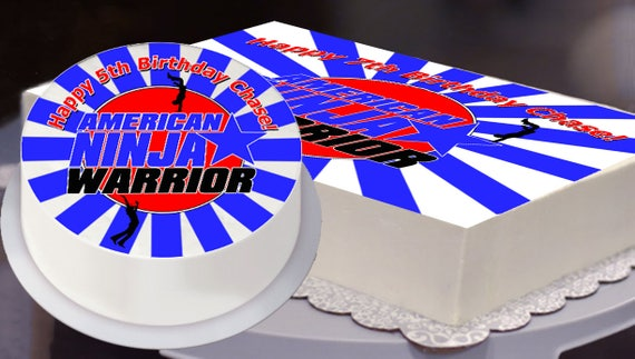 Ninja Warrior Party Edible Cake Topper Ninja Warrior
