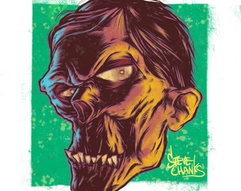 ZOMBIE - Monster Head Print