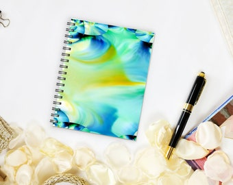 Spiral notebook, sketchbook, travel journal, writing journal, quote notebook, creative writing, photo cover, diary, notepad, school, artist