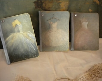 Vintage / Paris Inspired Small Altered Journals ( 3 )
