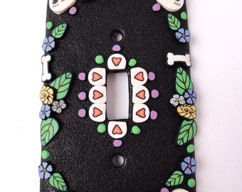 Day Of the Dead Switchplate for a single switch 1 by Marie Segal