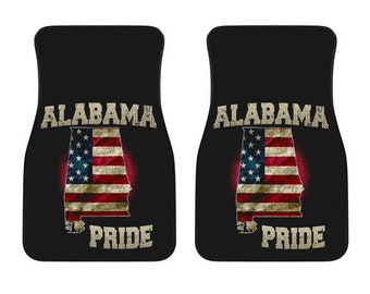 Alabama/Pride/American Flag/Car/Truck/SUV/Auto/RV/Floors Mats/Gifts/State Flag/Art/Home