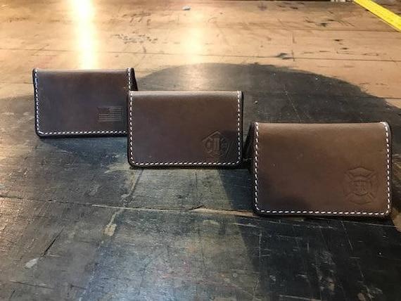 Brown Bi Fold Slim Wallet