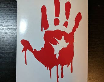 Halloween - Bloody zombie Hand decal