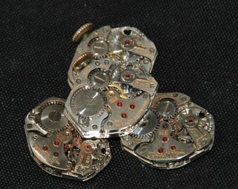 Vintage Watch Movements Parts Steampunk Altered Art Assemblage RB 85