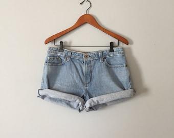 80s Ralph Lauren cuffed shorts | acid wash mini cuffed shorts