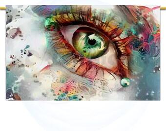 Electric feel #2  Large Wall Art print Abstract decor Beautiful eye wall art Colorful prints