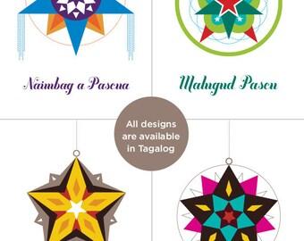 Filipino christmas card parol series maligayang pasko choose 4 filipino parol christmas card select from tagalog cebuano waray ilokano pampangan m4hsunfo