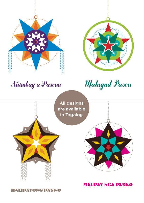Choose 4 filipino parol christmas card select from m4hsunfo