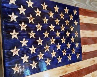 Rustic American Flag.